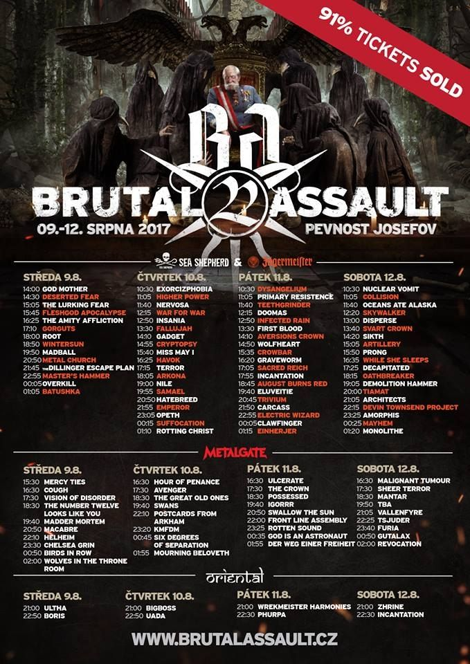 Brutal Assault 2017 line up update