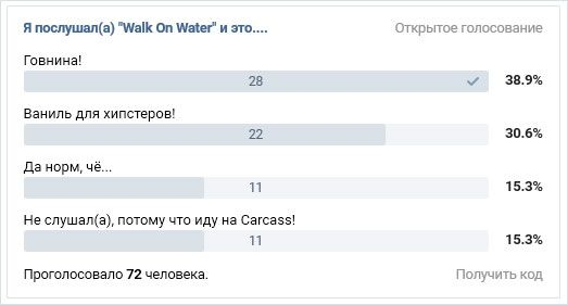 "Я послушал(а) ""Walk On Water"" и это...."