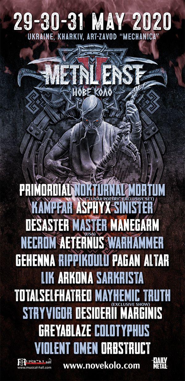 Metal East: Нове Коло 2020 – Kampfar, Asphyx, Sinister, Desaster, Master, Månegarm, Aeternus, Warhammer, Rippikoulu, Pagan Altar, Sarkrista, Totalselfhatred, Mayhemic Truth